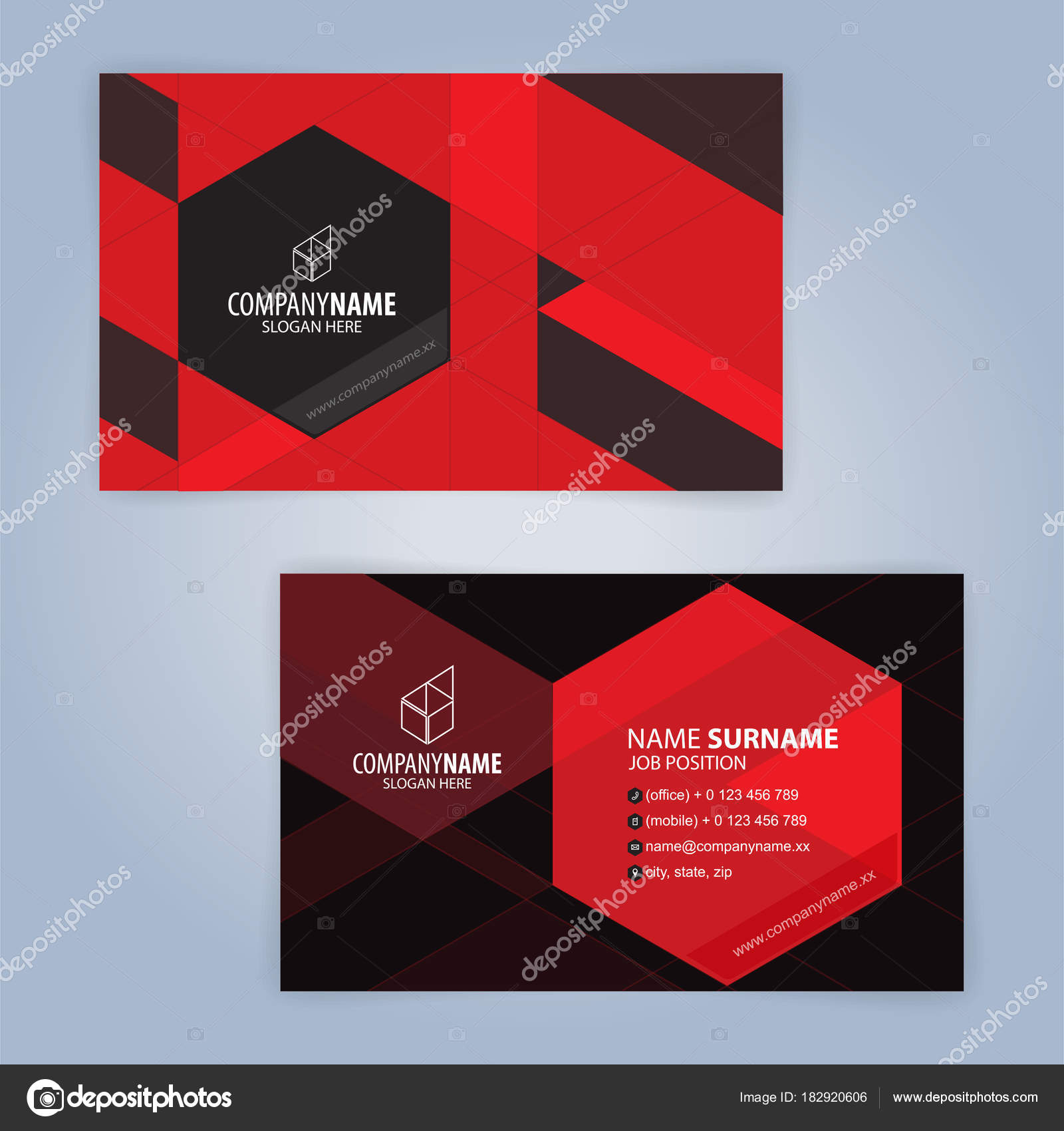 Red black modern business card template illustration vector stock red and black modern business card template illustration vector 10 vector by keangs wajeb Image collections
