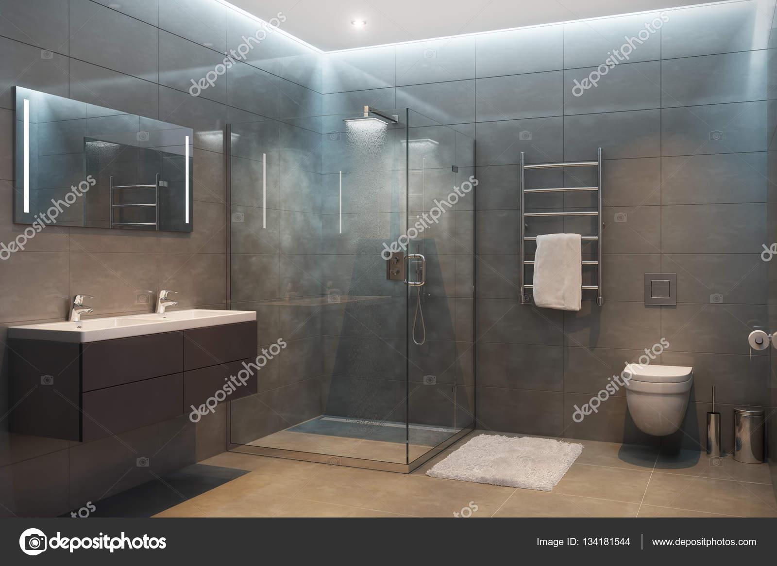 Exquisit Moderne Dusche Das Beste Von 3d Abbildung Des Grauen Mit Geräten Und
