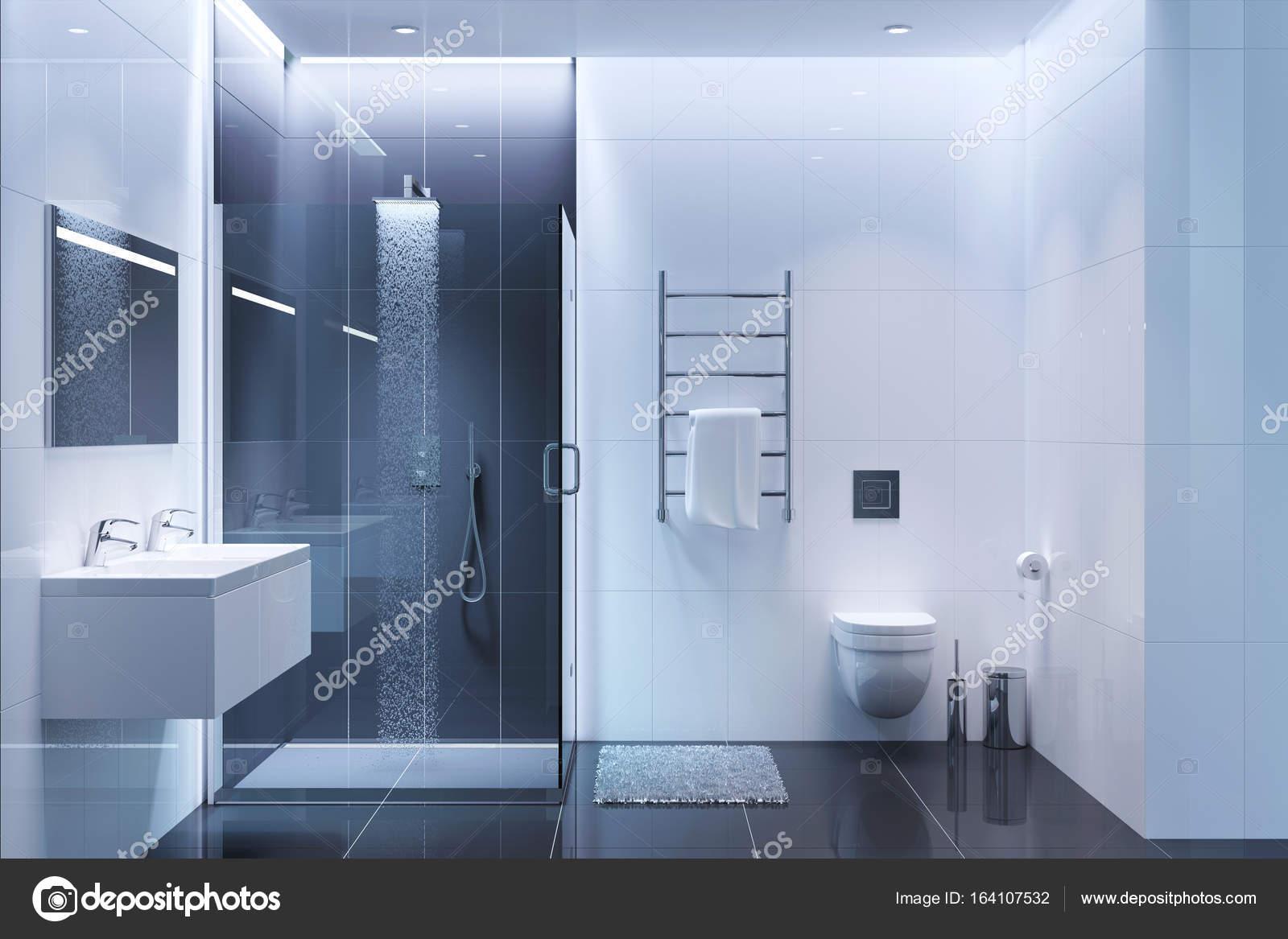 Bagno Moderno Bianco E Nero.Bagno Moderno Bianco E Nero Di Sera Foto Stock C Gamespiritlife