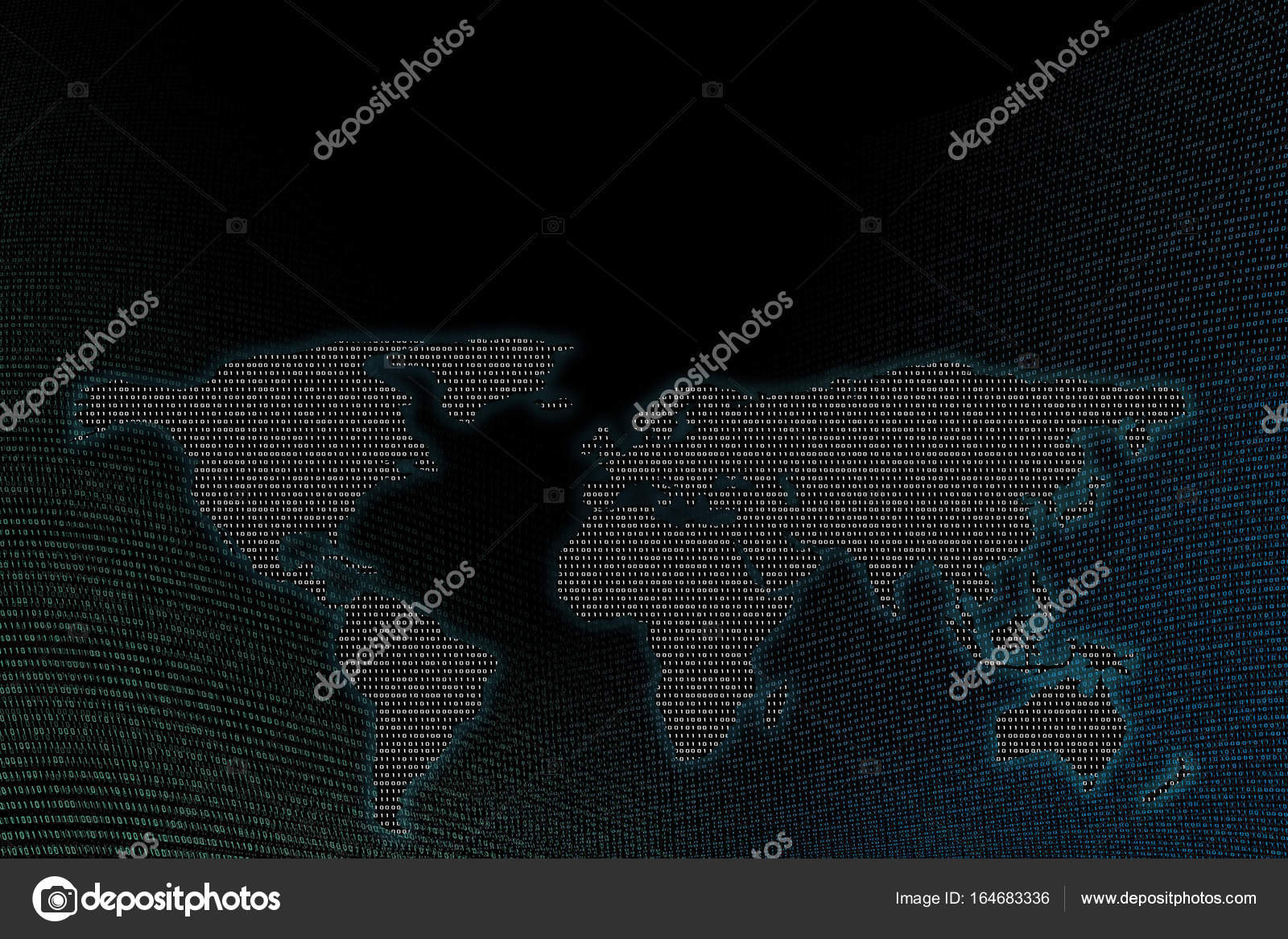 Digital world map binary numbers background copy space for network digital world map binary numbers background copy space for network connection concepts photo by suebsiri gumiabroncs Images
