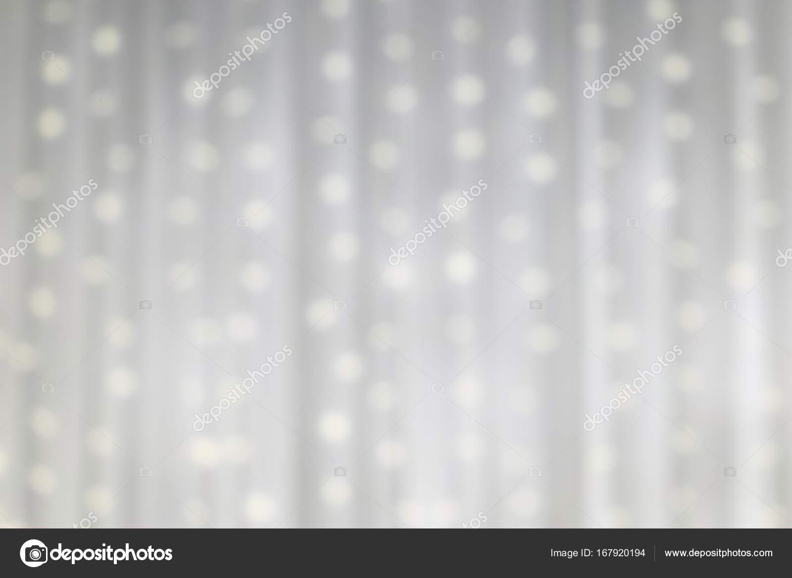 LED Light On White Cloth Curtain Backdrop Defocus Background Stock Photo