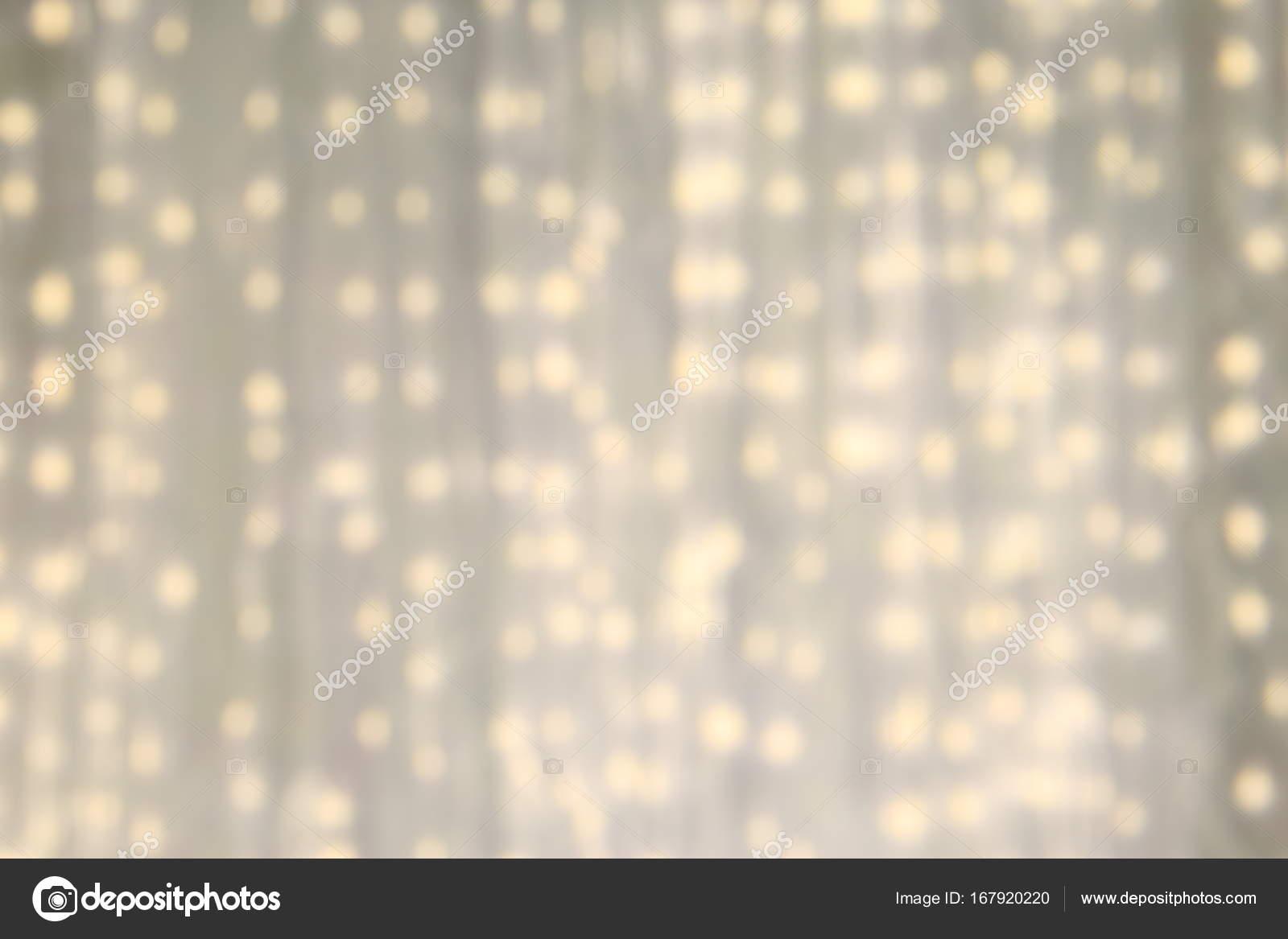 Led Light On White Cloth Curtain Backdrop Defocus White