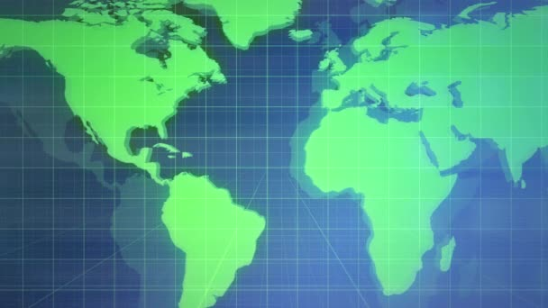 Novinky intro grafická animace s mřížkou a světovou mapou, abstraktní pozadí