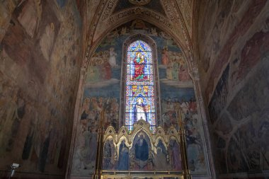 Panoramic view of interior of Basilica of Santa Maria Novella