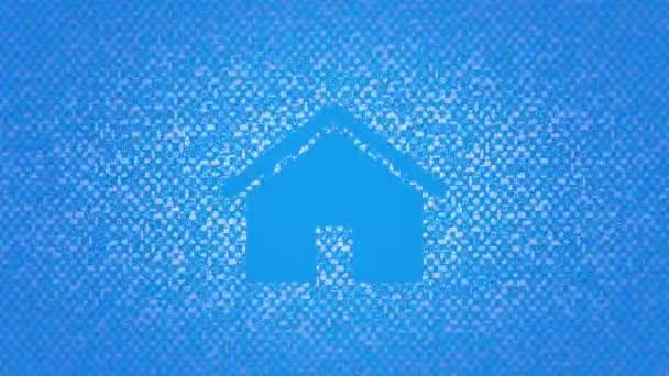 Motion House ikon egyszerű hálózati háttér