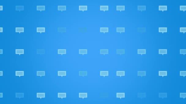 Ikony pohyblivé zprávy na jednoduchém síťovém pozadí
