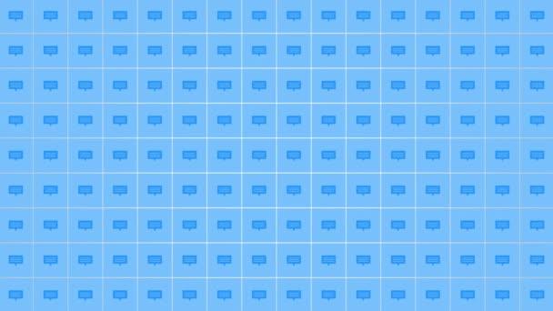 Motion Message ikonok egyszerű hálózati háttér