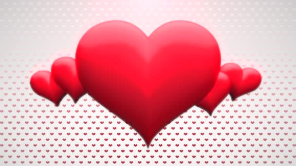 Animáció closeup mozgás romantikus szív Valentin nap fényes háttér