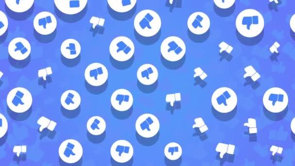 Bewegung wie Symbole auf einfachem Netzwerk-Hintergrund
