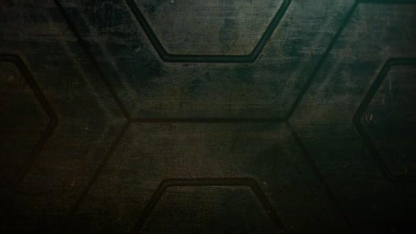 Filmové pozadí s tvary kosmické lodi a pohybové kamery