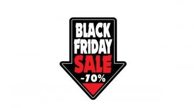 Fekete péntek értékesítés tag nyíl 70 % kedvezmény