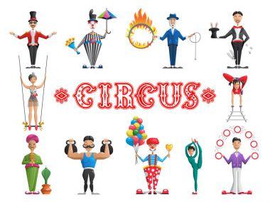 set circus performers
