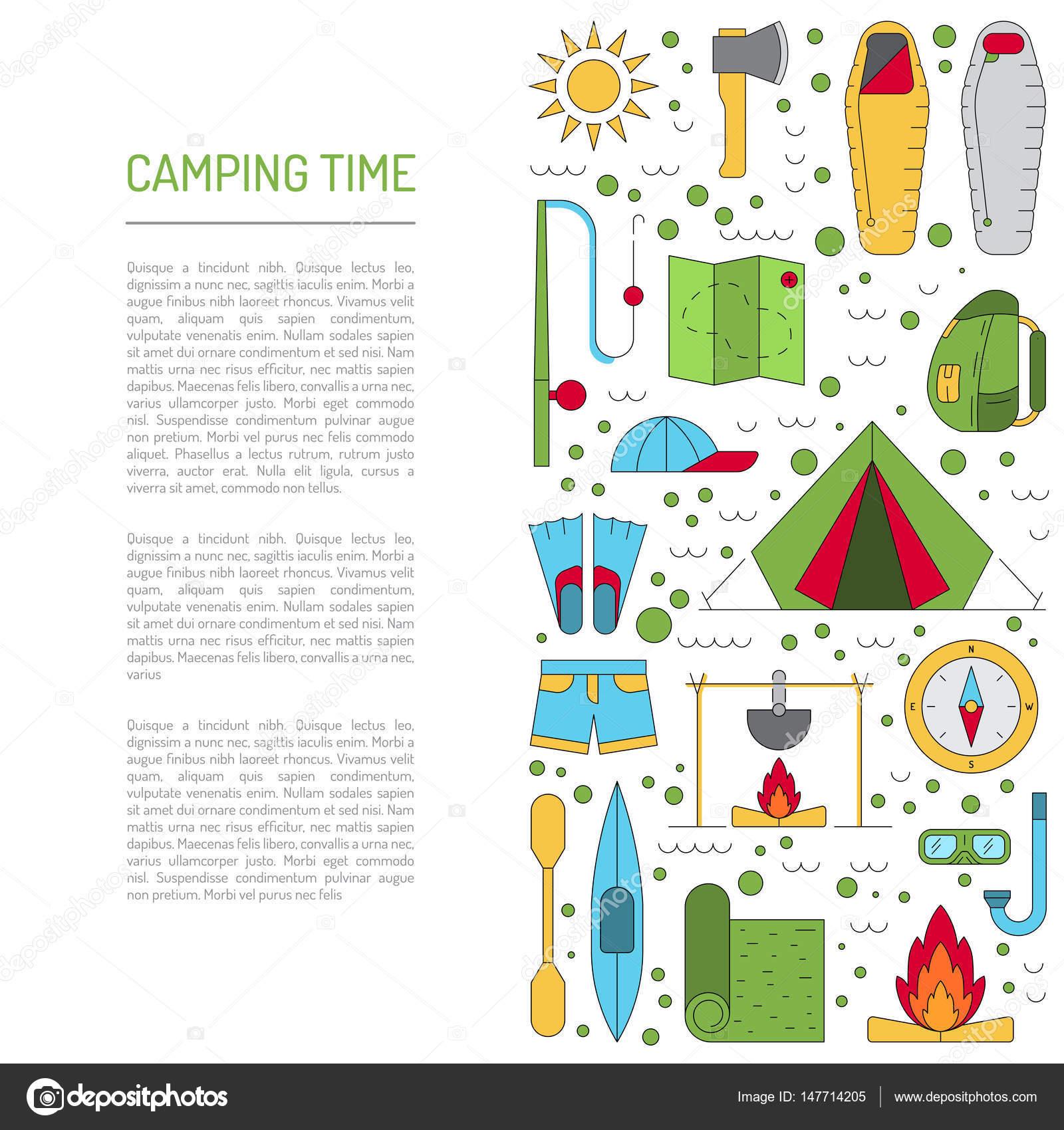 Plano camping icono — Vector de stock © shopplaywood #147714205