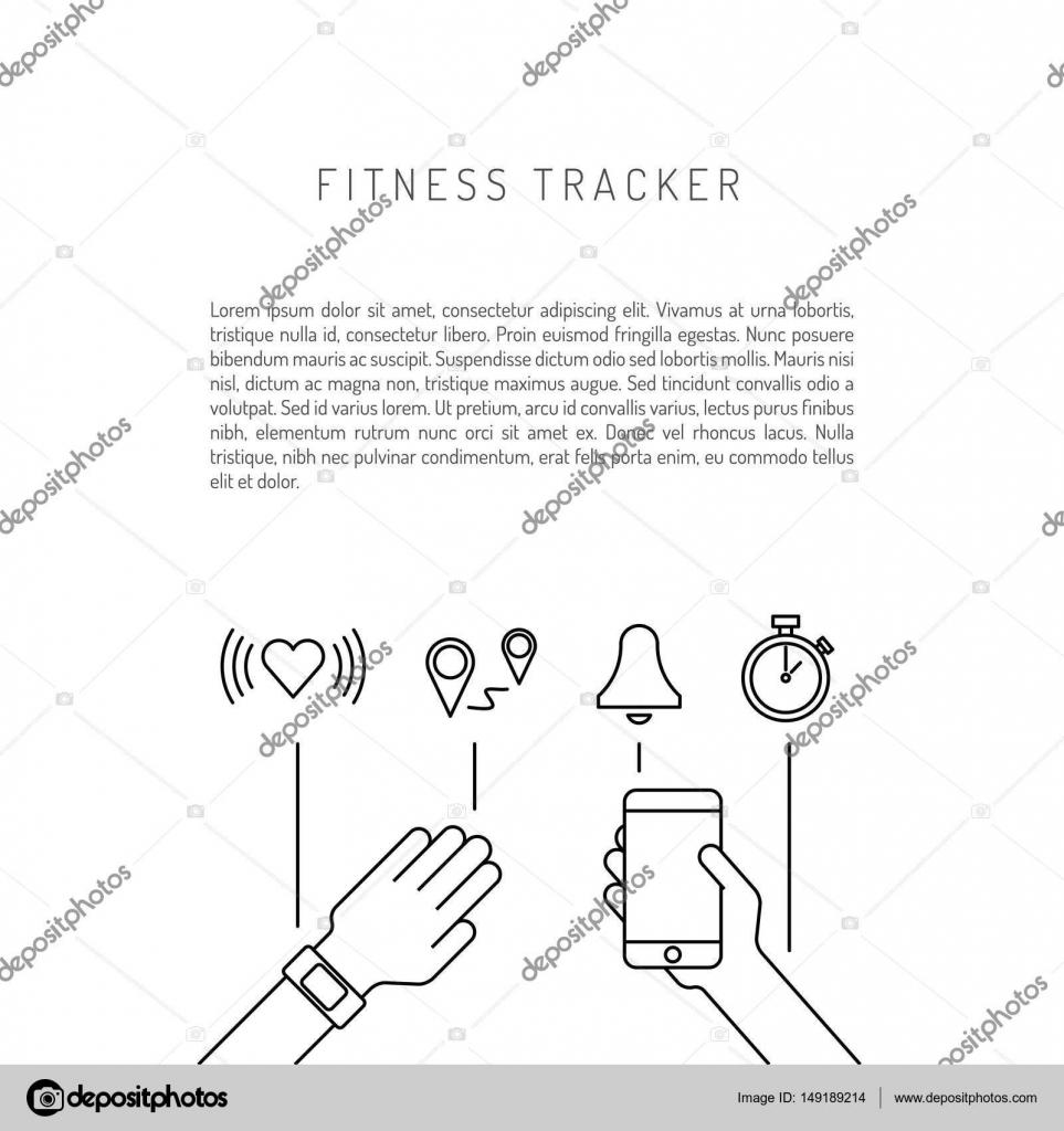 Fitness actividad Tracker — Vector de stock © shopplaywood #149189214