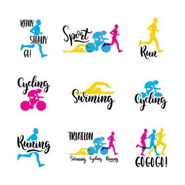 logo sport triathlon