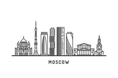Moscow outline skyline