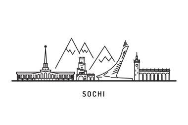 landmarks skyline of Sochi