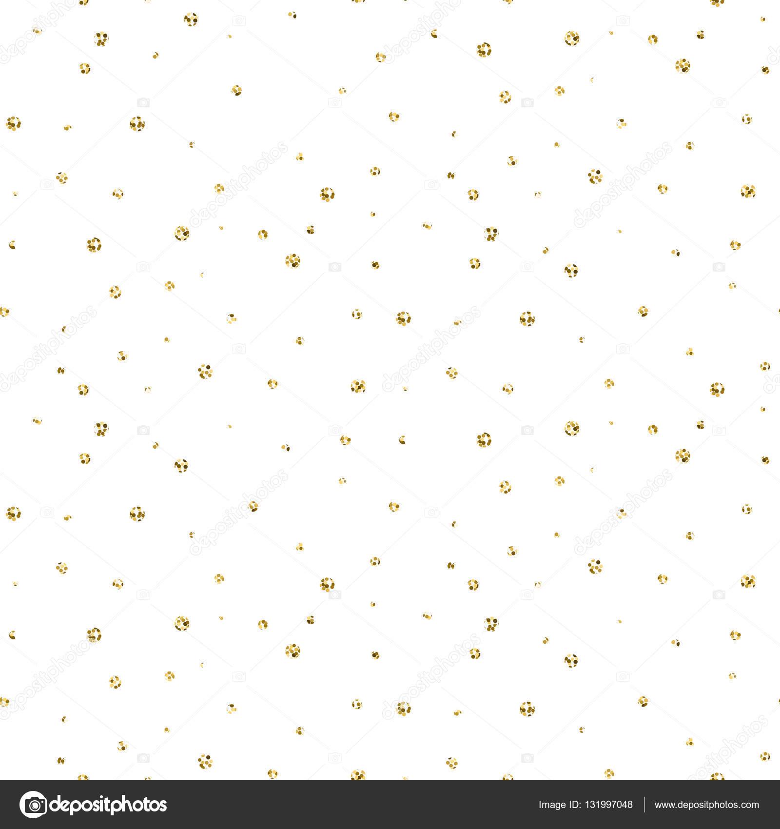 Resumen puntos brillo oro nieve de patrones sin fisuras — Archivo ...