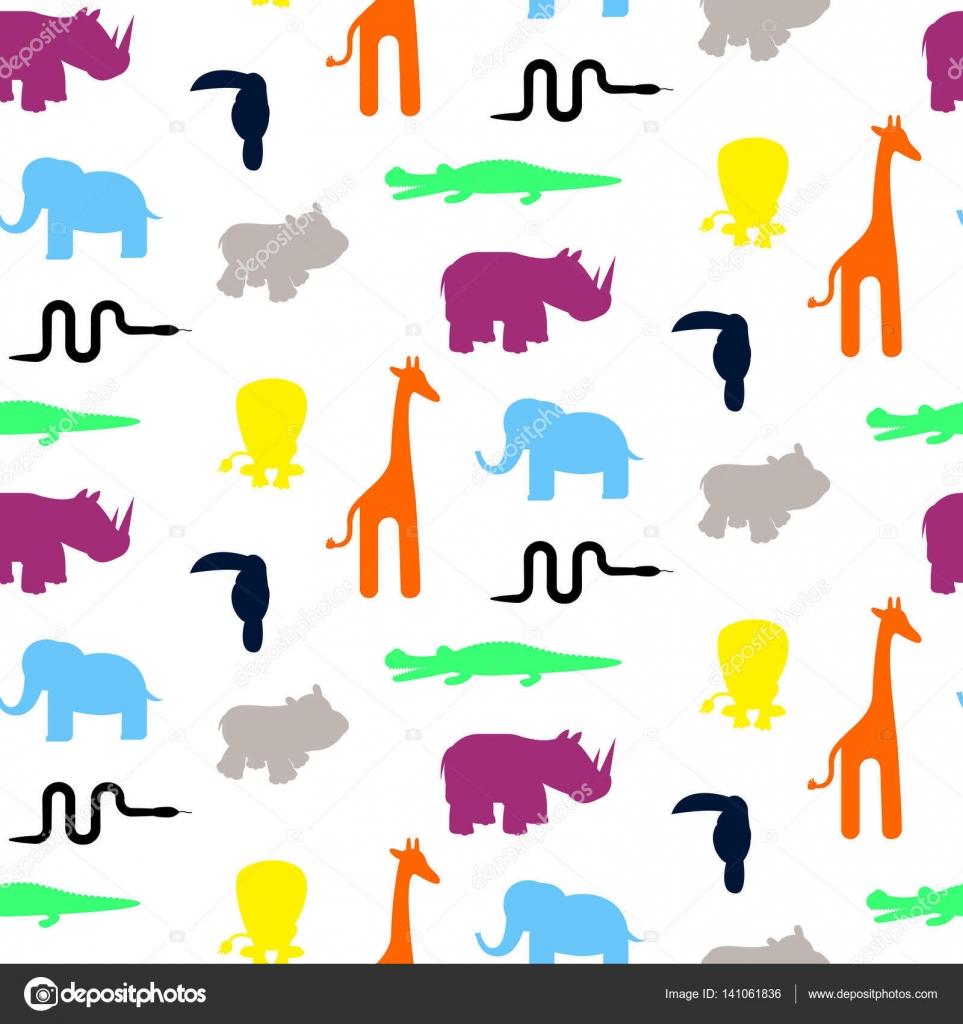 Imágenes: siluetas de jirafas para imprimir   Vector de patrones sin ...