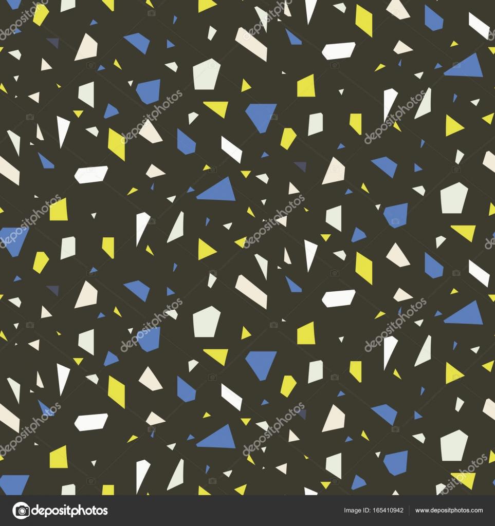 Terrazzo Flooring Dark Seamless Vector Pattern Stock