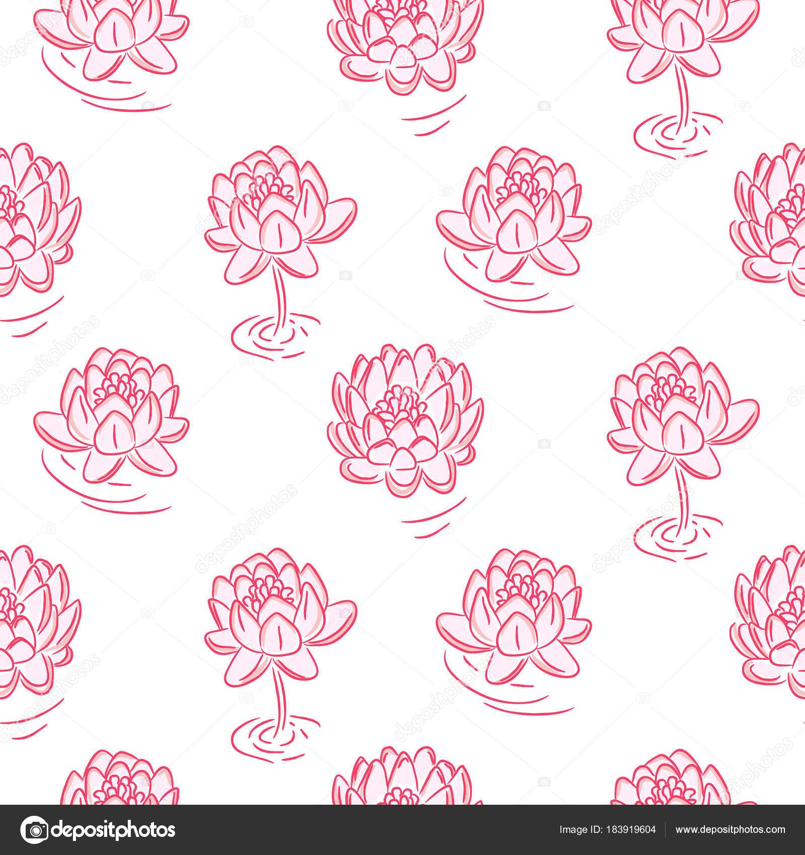 Dessin Sans Soudure Vector Fleurs De Nenuphar Rose Image