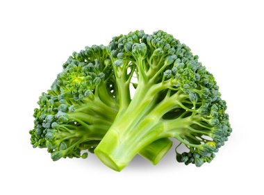 broccoli isolated on white clipping path