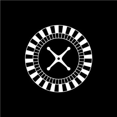 Roulette casino wheel icon.