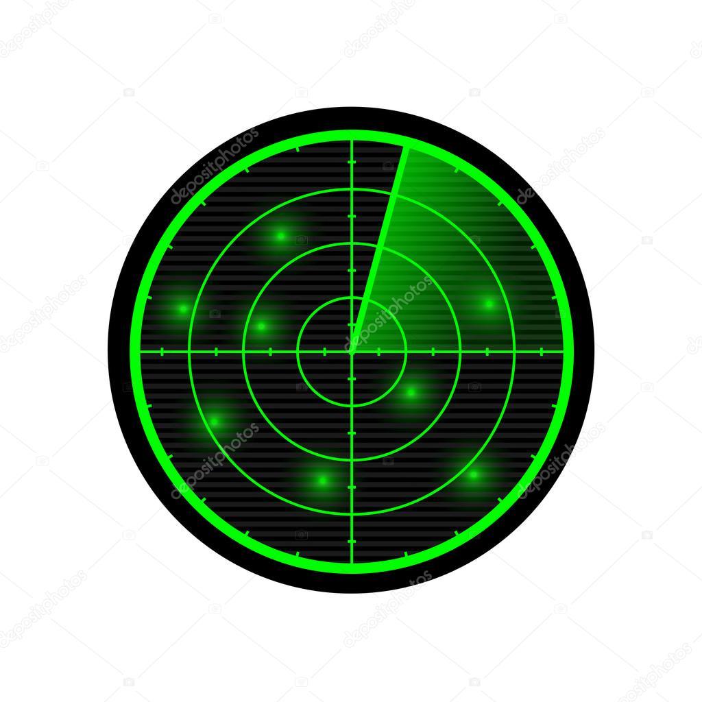 Grüne Radar Symbol Stockvektor Kilroy 125748362