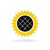 Slunečnicový jednoduchá Barevná ikona