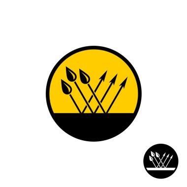 Waterproof symbol with water drops