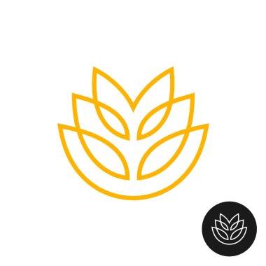Wheat ear linear style logo