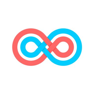Color infinity crossed lines logo