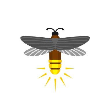 Firefly isolated cartoon vector logo