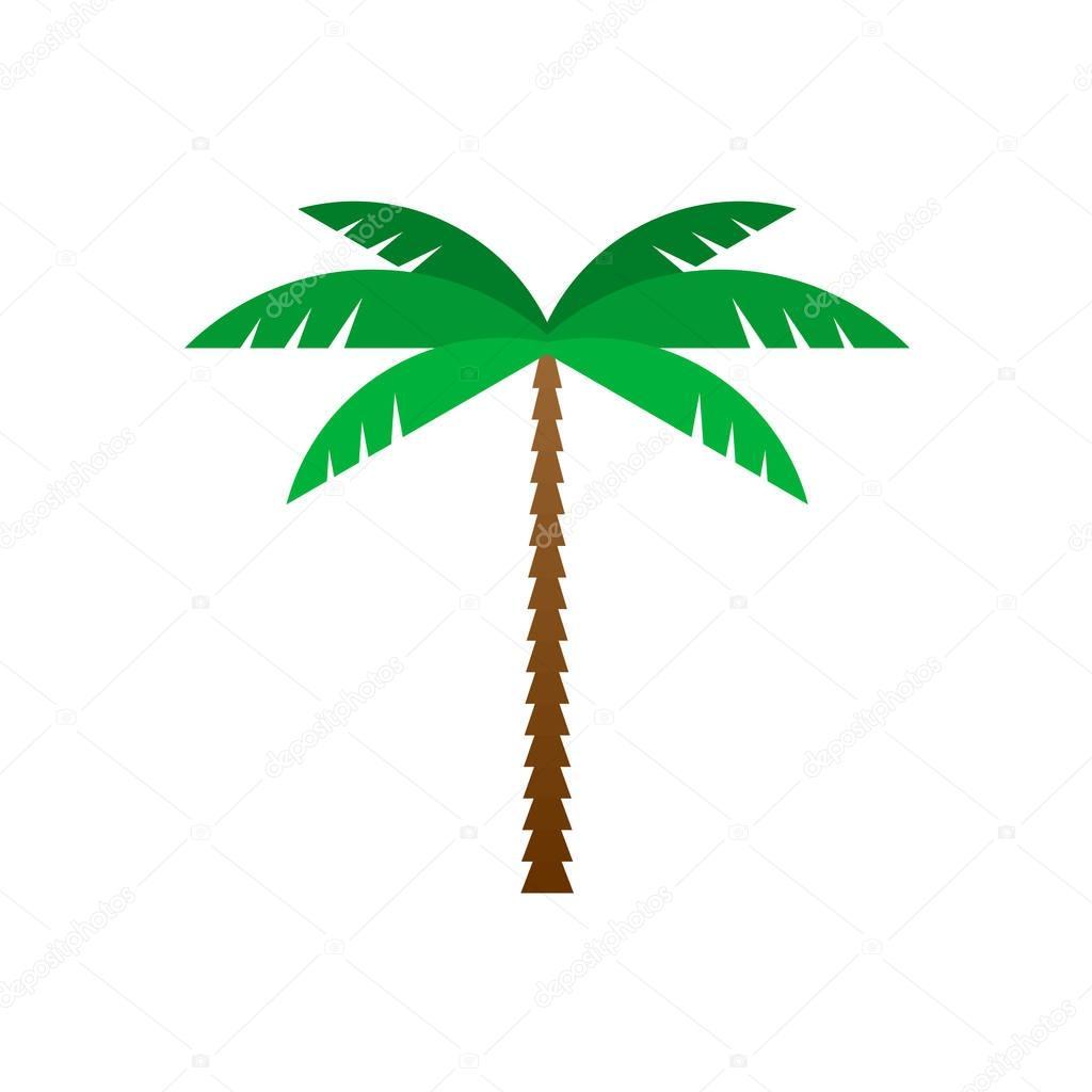 Palm tree flat geometric style illustration