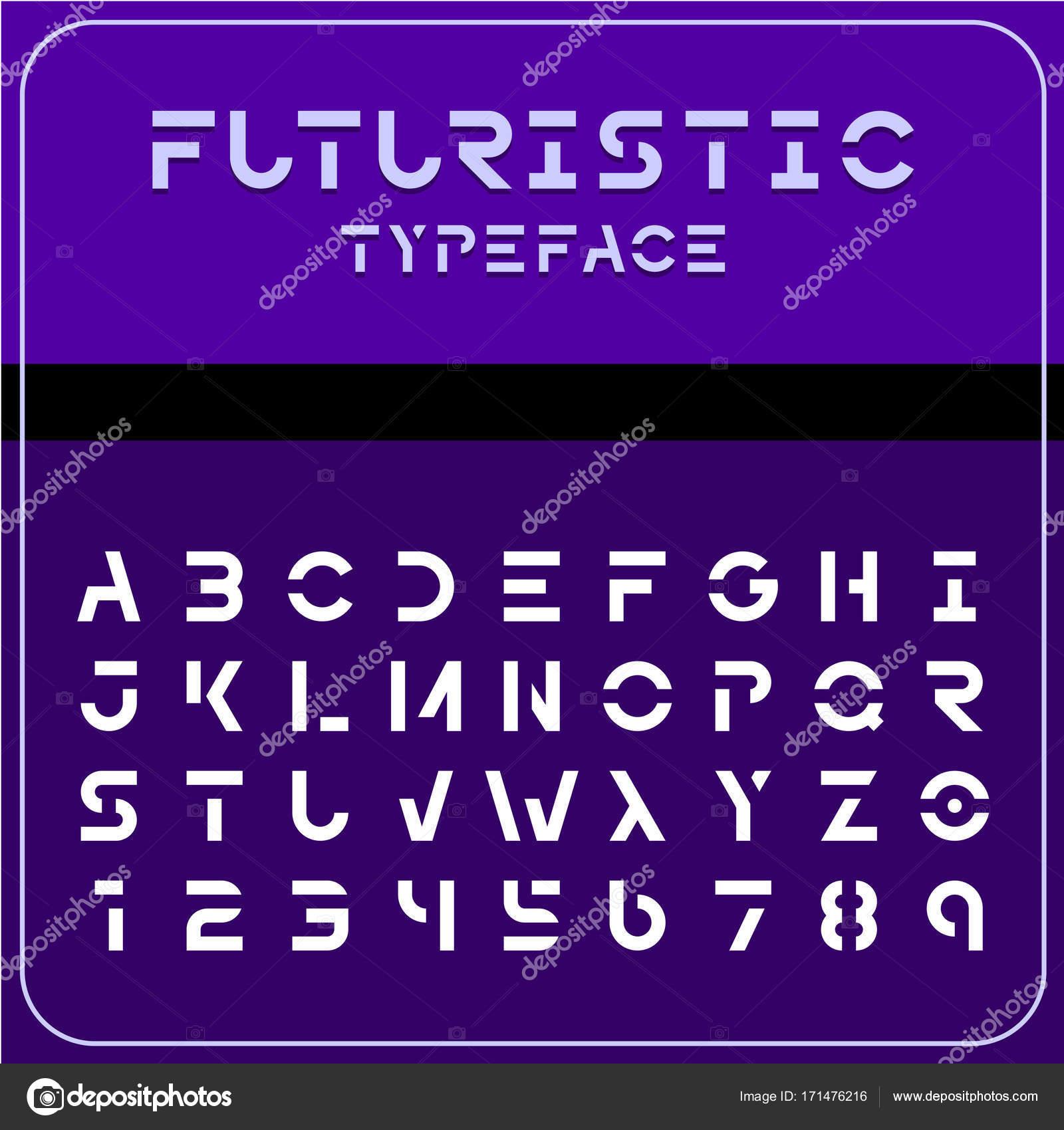 Modern Futuristic Font Stock Vector C Kilroy 171476216
