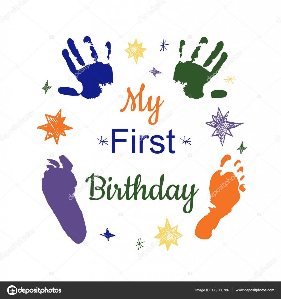 mi primer cumpleaños — Archivo Imágenes Vectoriales © sasha2538 ...