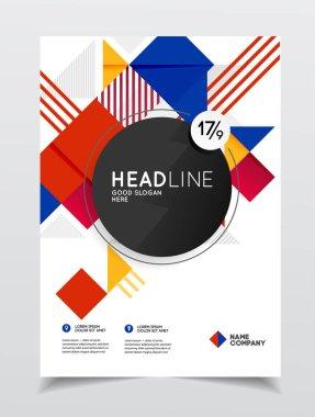 Business Brochure design, vector illustration clip art vector