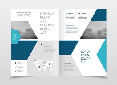 Business Brochure design, vector illustration stock vector