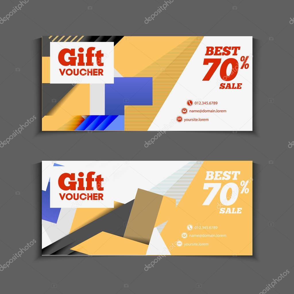 Gift or discount vouchers design Vector alejik 129649078 – Discount Voucher Design