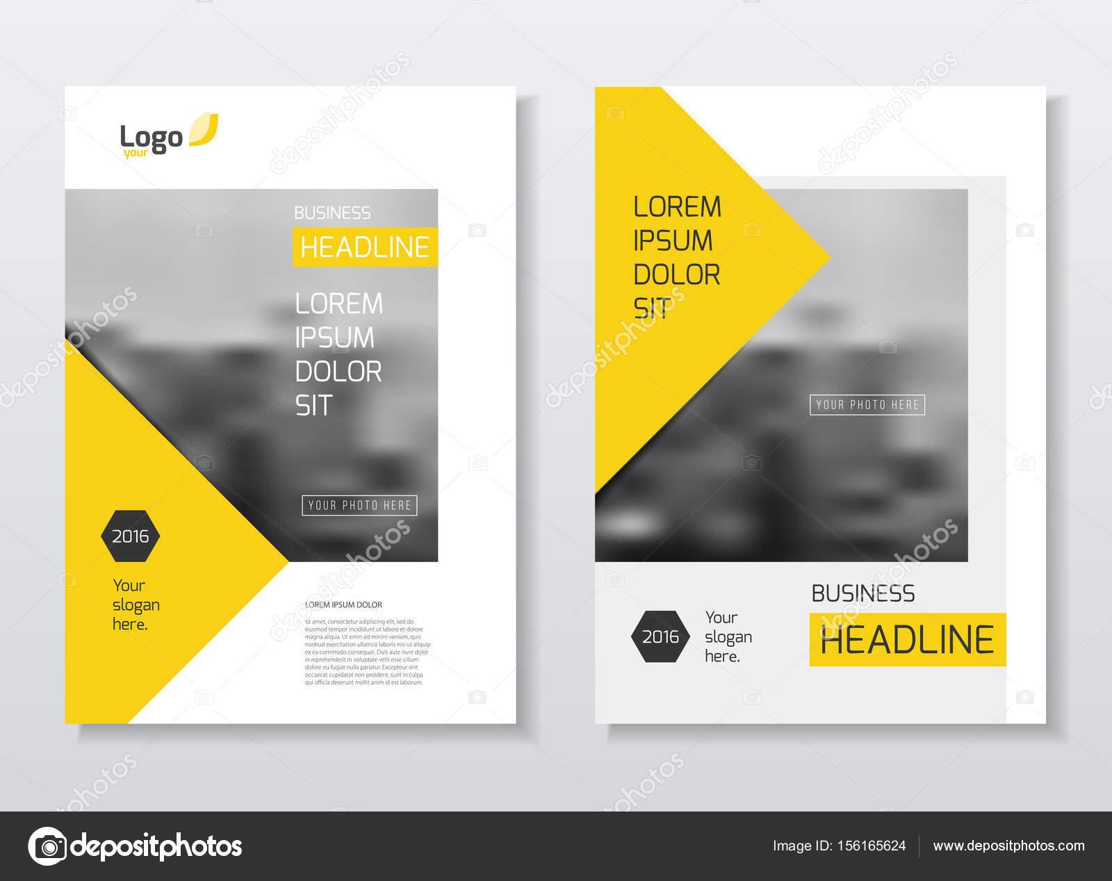 Diseño de Brochure de empresa. Anual Informe vector ilustración la ...