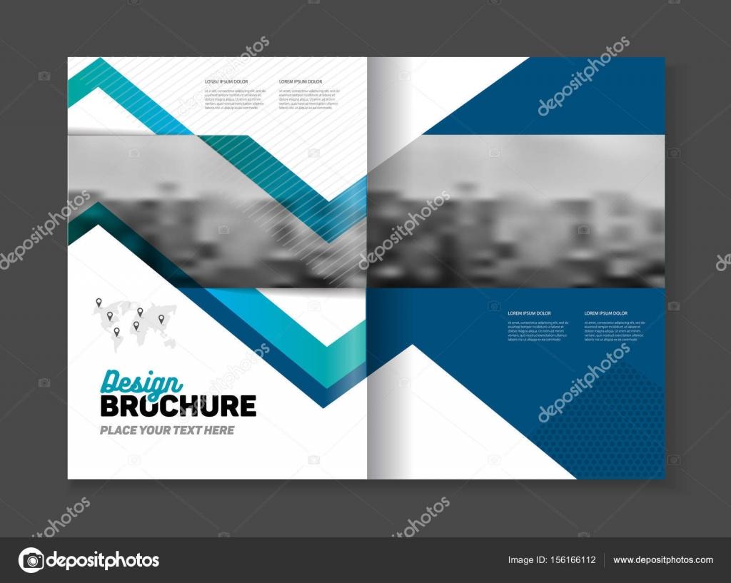 Abstrakt Business Broschüre Design Vektor-Vorlage im A4-Format ...
