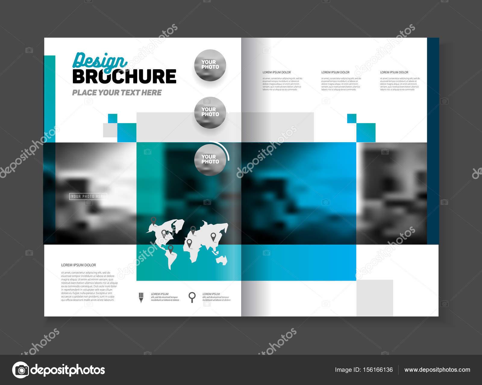 Plantilla de vector de diseño negocio Resumen folleto en tamaño A4 ...