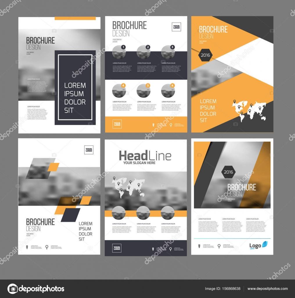 Sechs Flyer marketing Vorlagen mit Foto, Text und Karte ...
