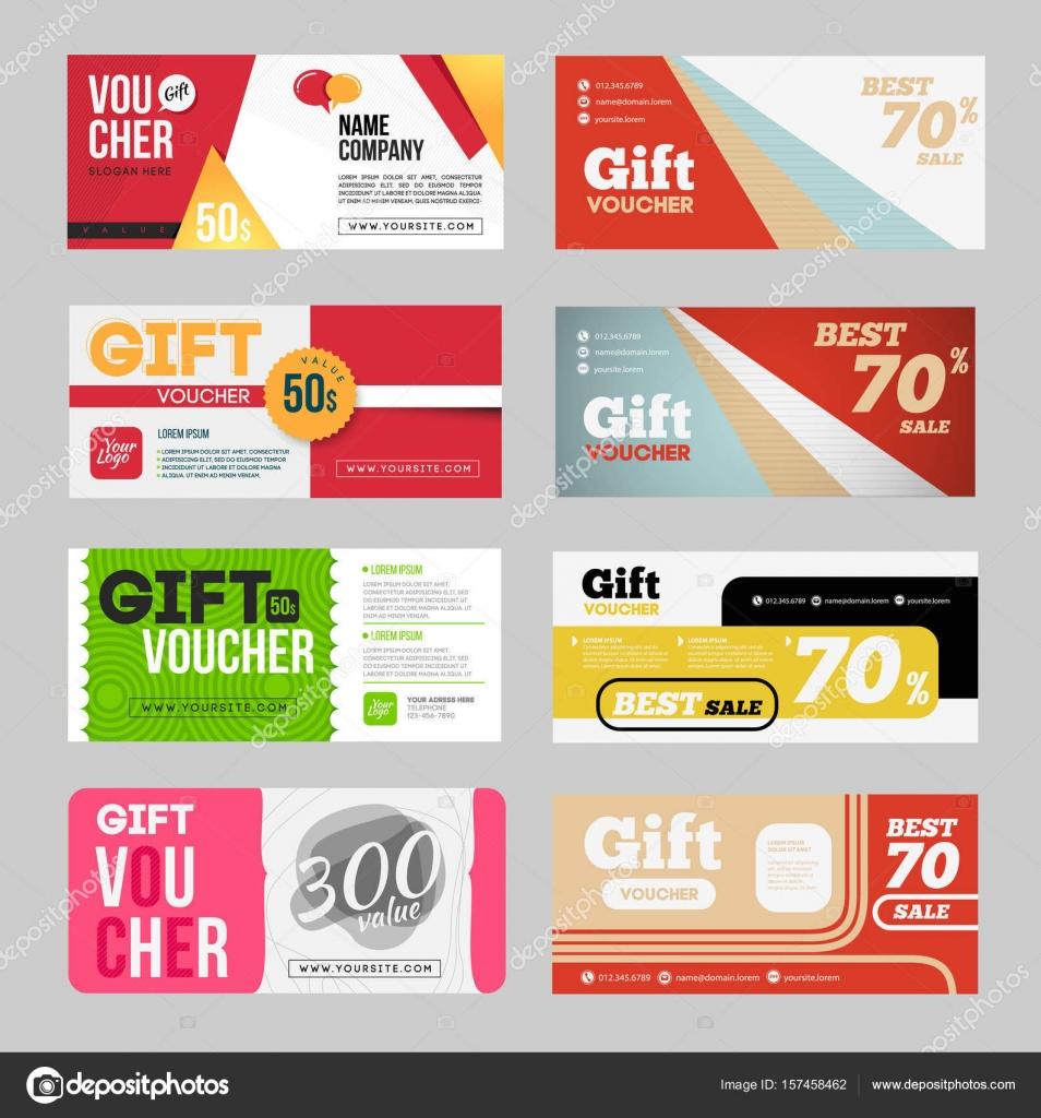Gift Voucher Certificate Coupon Stock Vector Alejik 157458462