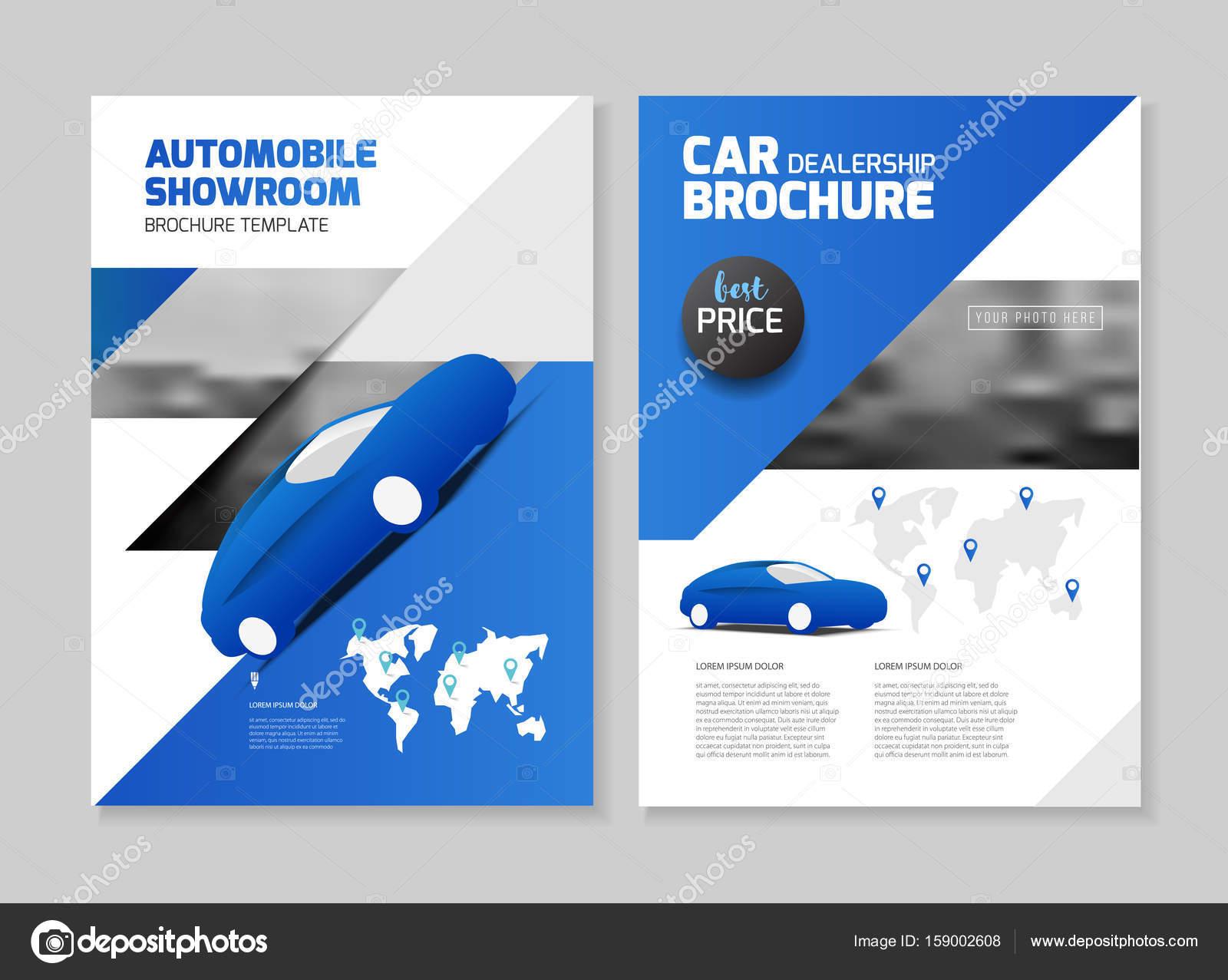 Folleto de concesionario de coches. Salón automóvil folleto ...