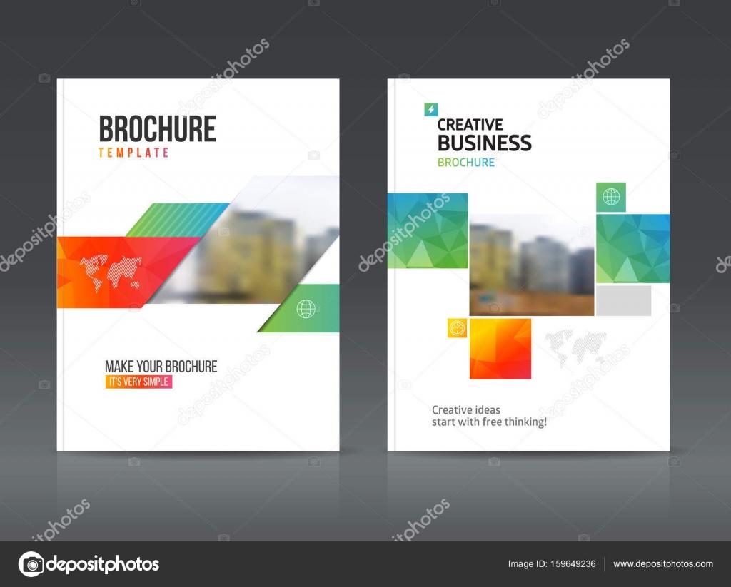 modello astratto business brochure disegno vettoriale in formato a4