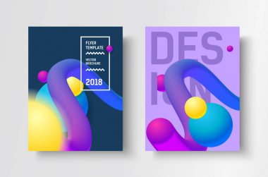 Gradient modern vector poster.