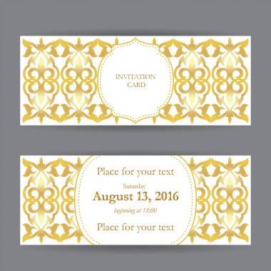 Set of business cards, invitations, and cards templates with lac