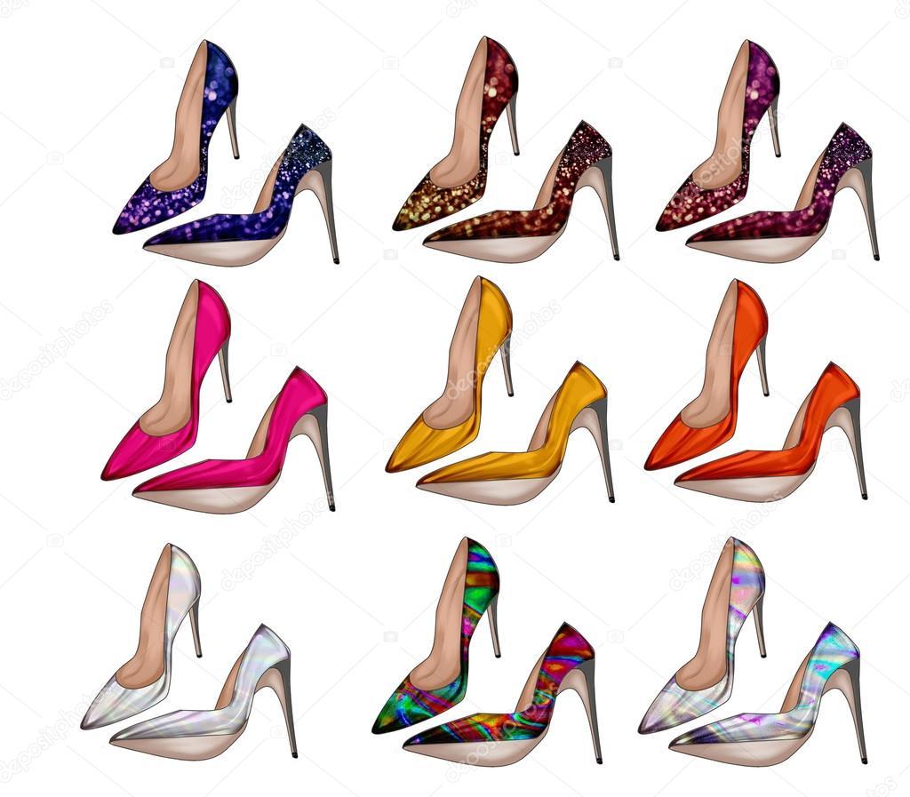 De Colección Mujer Colores Zapatos Tacón Diferentes q0v8xwvdP