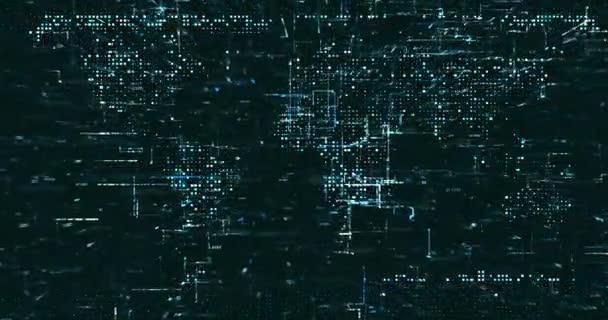 Absztrakt digitális hálózati adatháttér, 3D-s renderelés videó